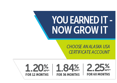 Alaksa USA Certificate Accounts